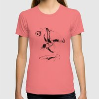 World Cup 2014 Womens Fitted Tee Pomegranate SMALL