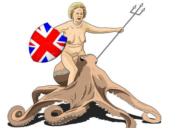 Thatcher rides again Art Print