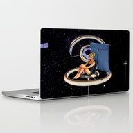 Chillin At The Space Sta… Laptop & iPad Skin