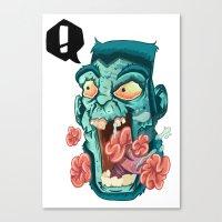 Zombie. Canvas Print