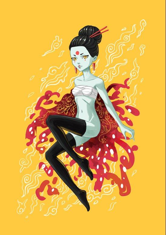 Fire Fairy Art Print