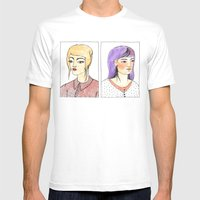 Fancy hair pair Mens Fitted Tee White SMALL