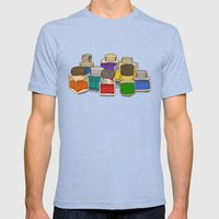 Ink Mens Fitted Tee Tri-Blue SMALL