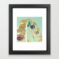 Pastel Ferris Wheel Framed Art Print