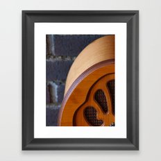 Old Radio Framed Art Print