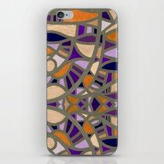 Gaudy Gaudi orange & purple iPhone & iPod Skin