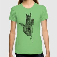 The Heart Of The City Womens Fitted Tee Grass SMALL