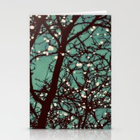lights Stationery Cards featuring Night Lights by elle moss