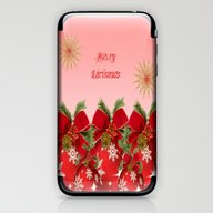 Merry Christmas - Red iPhone & iPod Skin