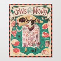 'Cows Are REALLY Meaty!' Canvas Print