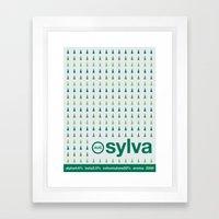sylva single hop Framed Art Print
