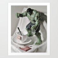 Green Hulk Cuppa Tea Art Print