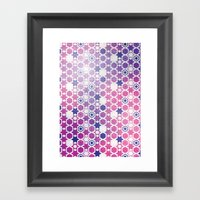 Stars Pattern #001 Framed Art Print