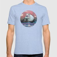 Lone Wolf Mens Fitted Tee Tri-Blue SMALL