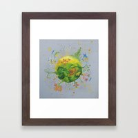 The thousand faces planet Framed Art Print