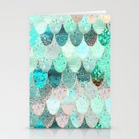mermaid Stationery Cards featuring SUMMER MERMAID by Monika Strigel
