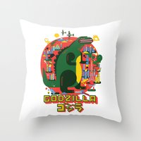 GODZILLA Throw Pillow