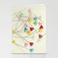 I Heart Pins Stationery Cards