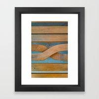 Cross the Wood Framed Art Print