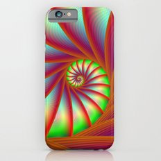 Staircase Spiral in Orange Blue and Green iPhone 6 Slim Case