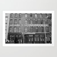 NY warehouse Art Print
