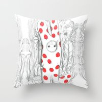 Silent In The Forest Throw Pillow