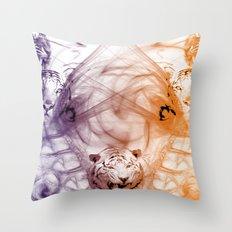 Tiger Family Throw Pillow