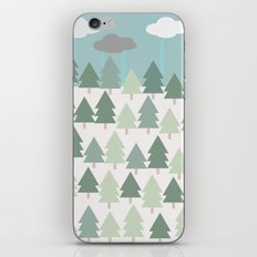 Pacific Northwest Tree and Rain Scene - Portland, PDX, Seattle, Washington, Oregon iPhone & iPod Skin