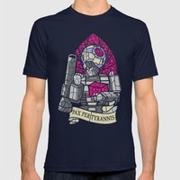 Pax Per Tyrannis Mens Fitted Tee Navy SMALL