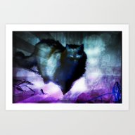 The Spooky Cat Art Print