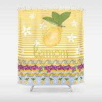 Lemon From Capri Shower Curtain