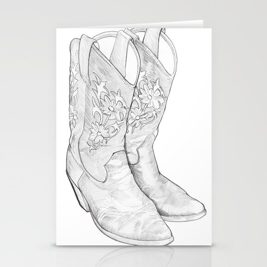 Cowboy Boots Stationery Card