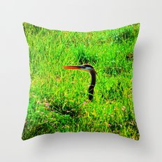 A Visit From Blue Throw Pillow