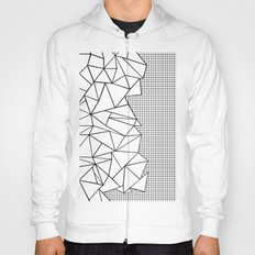 Abstraction Outline Grid on Side White Hoody