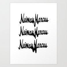 NM Drip (black only) Art Print