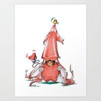 Calamar Prince Art Print