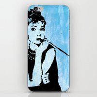 Audrey in Blue iPhone & iPod Skin