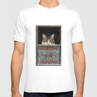 Scaredy Cat Mens Fitted Tee White SMALL