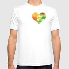 Love in Motion SMALL White Mens Fitted Tee