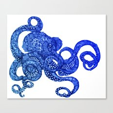 Ombre Octopus Canvas Print