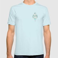 Water Mens Fitted Tee Light Blue SMALL