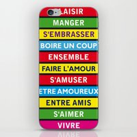 Eat, Drink, Love, Have Fun with friends iPhone & iPod Skin