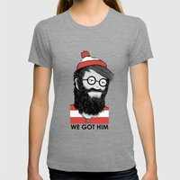 We Got Him Womens Fitted Tee Tri-Grey SMALL