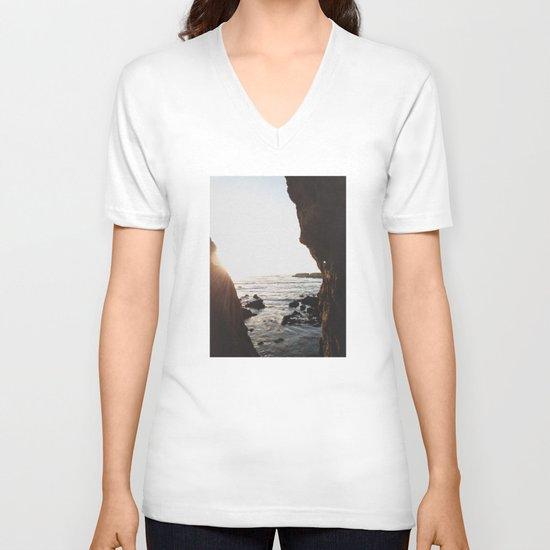 Shell Beach View V-neck T-shirt