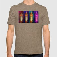 glow Mens Fitted Tee Tri-Coffee SMALL