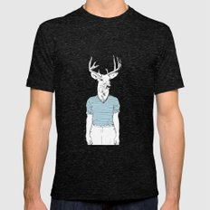 Wild Nothing I Mens Fitted Tee Tri-Black SMALL