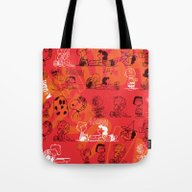 Tote Bag featuring SNOOPY AAUGH! by Hardkitty