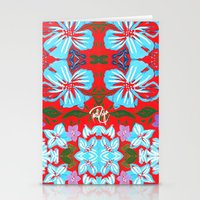 Tropical Floral Print Stationery Cards