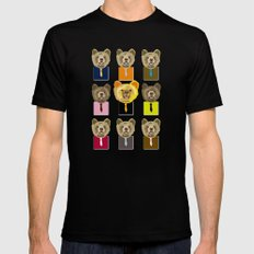 Little bear with tie Mens Fitted Tee Black SMALL