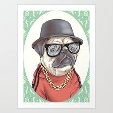 90's Pug rapper Art Print